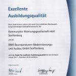 IHK-Siegel für exzellente Ausbildungsqualität an KWG Senftenberg