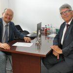 Rechtsanwalt Philipp Schneider zu Arbeitsbesuch bei der KWG