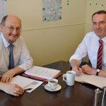 Bürgermeister der Stadt Senftenberg zum Arbeitsbesuch bei der KWG